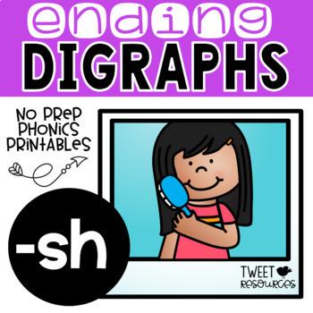 "Digraphs Phonics NO PREP Printables  ""-sh"""