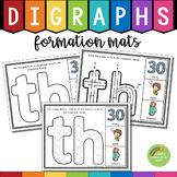 Digraphs Letter Formation Mats (th, sh, ch, wh, ph, qu, tch, ng, ck)