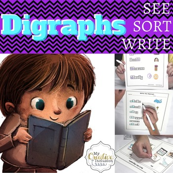 Digraphs Leveled Printables- TH, PH, WH, CH, SH for Special Education