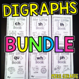 Digraphs Little Phonics Books Bundle