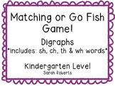 Digraphs Matching Game