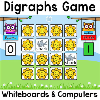 Digraphs Memory Game for Smartboards & Computers - 10 Seasonal Themes Included!