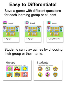 Digraphs Memory Game for Smartboards, Tablets & Computers - Spring Activity