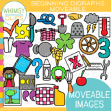 Digraphs Moveable Clip Art {MOVEABLE IMAGES}