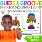 Digraphs Movement Games BUNDLE  for Google (TM) & PowerPoi