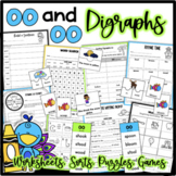 Digraphs oo and oo Sound Phonics Worksheets and Sort - Dis