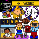 Digraphs - PH Words {Creative Clips Digital Clipart}