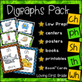 Digraphs Pack [ch, ph, sh, th, & wh] Centers & More!