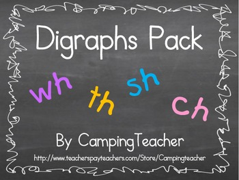 Digraphs Pack wh, th, sh, ch