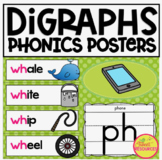 Digraphs Phonics Color Posters & Words Cards for Classroom Display & Reference
