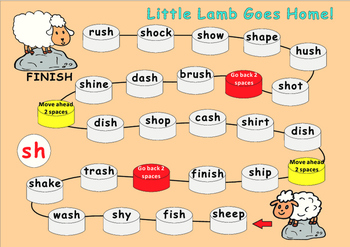Digraphs-Phonics Game Boards