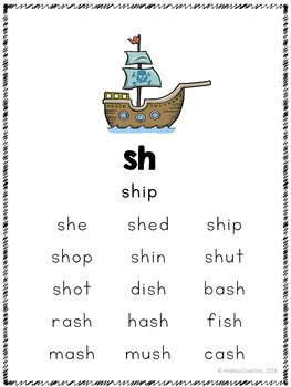 Digraphs Phonics Posters and Word Lists