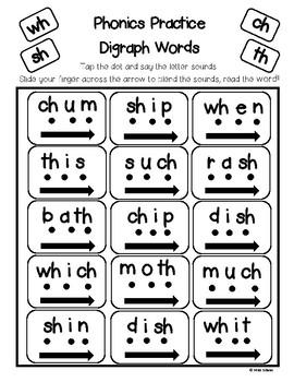 Digraphs - Phonics Practice