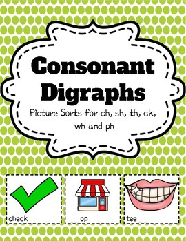 Digraphs Picture Sort Bundle