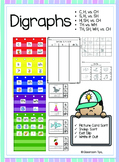Digraphs Picture Sorts (5 weeks and in COLOR & BW)