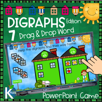 Digraphs Picture and Word Sorts PowerPoint Game