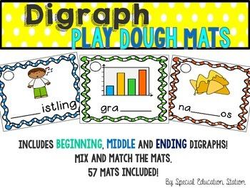 Digraphs Play Dough Activity Mats