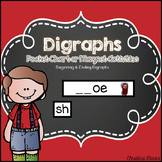 Digraphs Pocket Chart or Magnetic Letter Activities