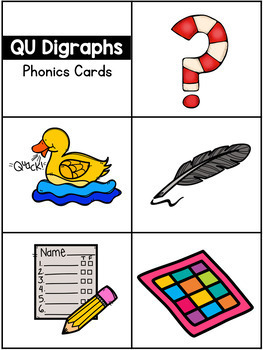 Digraphs Pocket Charts or Flip Cards