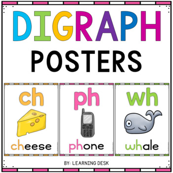 Consonant Digraphs ch, sh, th, and wh Posters