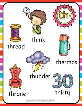 Digraphs Posters and Coloring Pages  (th, sh, ch, wh, ph, qu, tch, ng, ck)