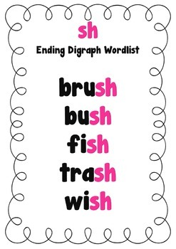 Digraphs Printable Flash Cards