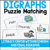 Digraphs Puzzle Matching Literacy Center