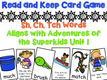Digraphs Read and Keep Card Game - Aligns w/ Adventures of the Superkids Unit 1