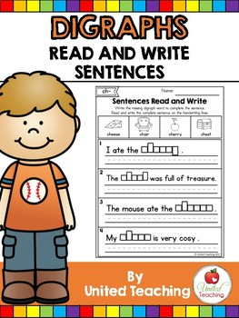 Digraphs: Read and Write Sentences No Prep Packet