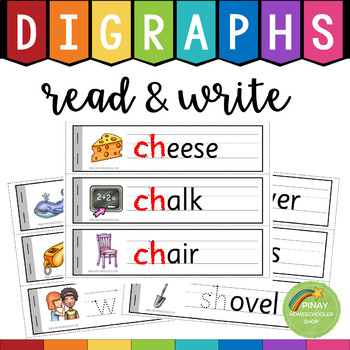 Digraphs Read and Write (th, sh, ch, wh, ph, qu, tch, ng, ck)