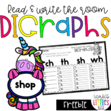 Digraphs Read and Write the Room {Freebie}