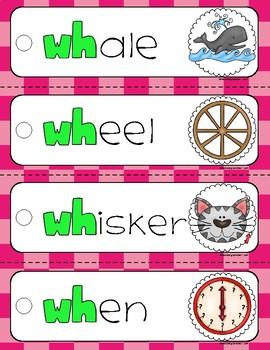 Digraphs Ring Word Cards