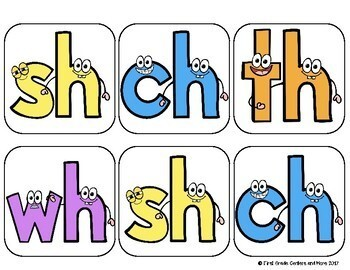 Digraphs Roll and Learn Games sh, ch, th, wh