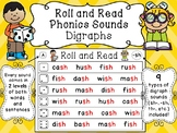 Digraphs Roll and Read Reading Fluency Centers