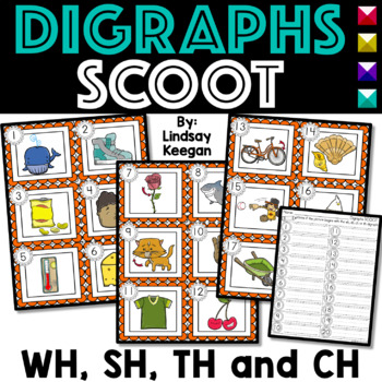 Digraphs SCOOT or Write the Room - Labeling TH, SH, WH + CH