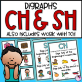 Digraphs SH, CH, TCH Activities and Worksheets