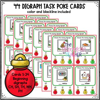 Digraphs Christmas Activity SH, CH, TH, PH, WH