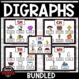 Digraphs (SH, CH, TH, WH, -CK) Word Work Bundled
