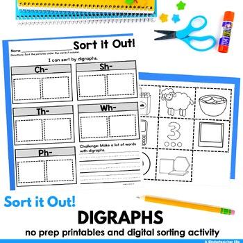 Digraphs SH TH CH WH PH sort