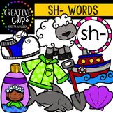 Digraphs - SH Words {Creative Clips Digital Clipart}
