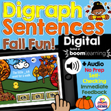 Digraphs Sentences Fall Themed Digital Boom Cards