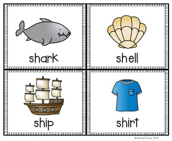 Digraphs- Sh (Initial and Final) Literacy Activities plus Craftivity