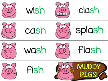 Digraphs (Sh-Th-Ch-Wh): Muddy Pigs Theme
