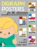Digraphs (Sh, Th, Ch, Wh, Ph, Qu) Posters for Kindergarten