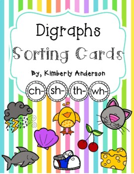 Digraphs Sorting Cards and Activity Sheets ( ch- / sh- / t