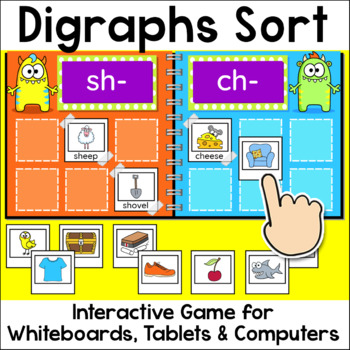 Digraphs Sorting Game for Whiteboards and Computers - Beginning & Ending Sounds