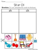 Digraphs Sorts Pack {ch, sh, th, wh, qu}