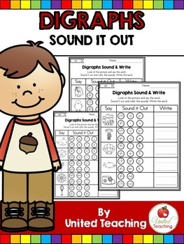 Digraphs: Sound It Out No Prep Worksheets