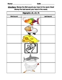 Digraphs- Stamp first sound and last sound