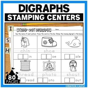 Digraphs Worksheets for Stamping Center